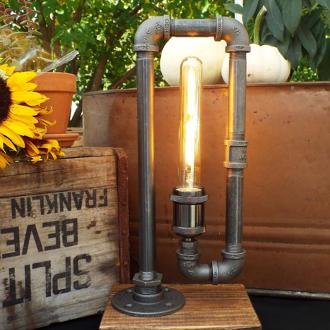 štýlová industriálna lampa