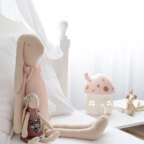 stolová lampa do detskej izby - ružová