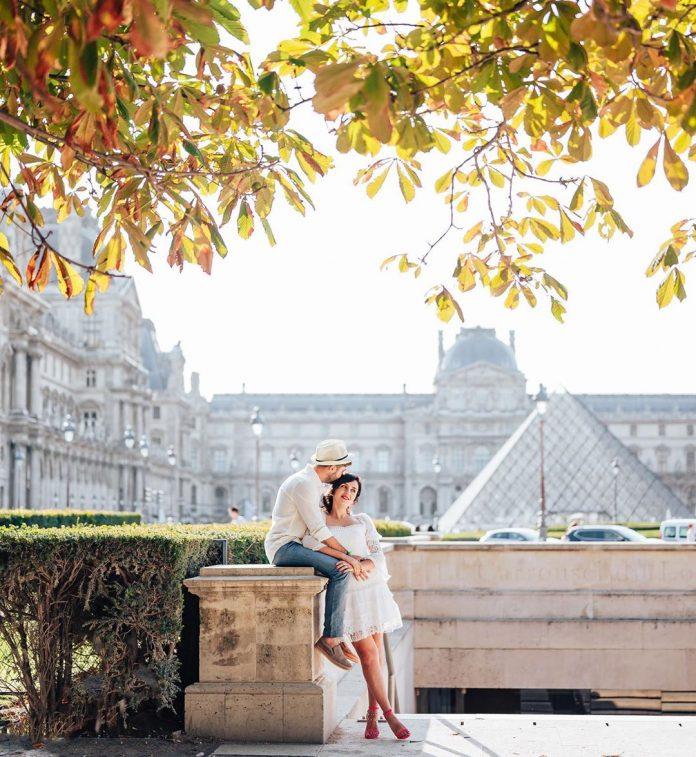 zaľúbený pár vo Francúzsku