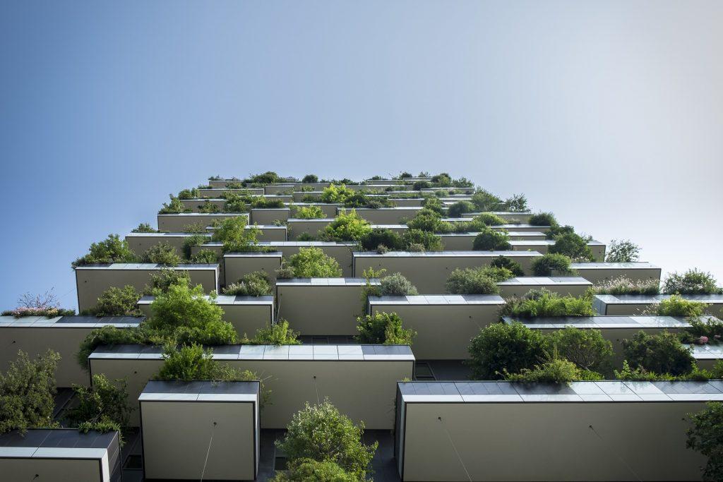 panelák zelené balkóny
