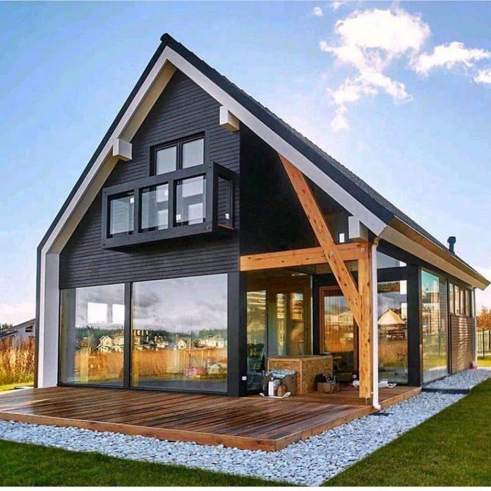 montovaný moderný dom