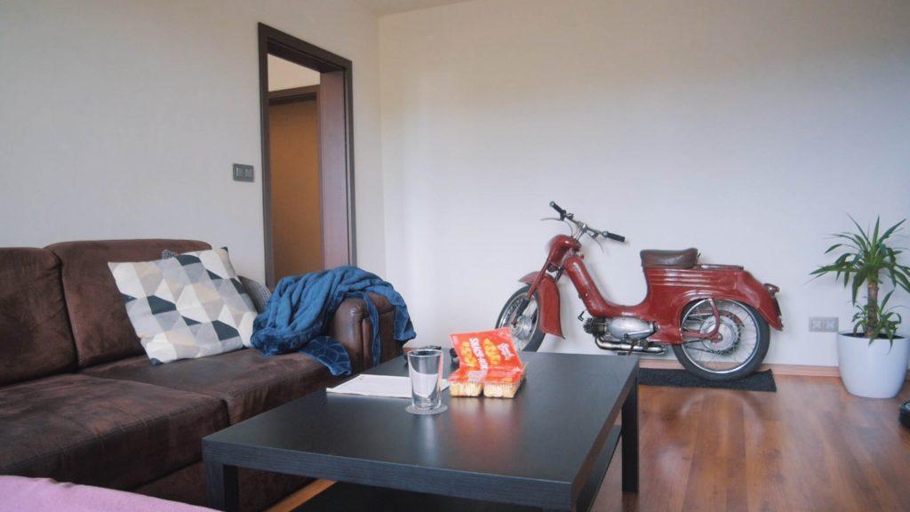 homestaging, uprava bytu veľká priestranná obývačka