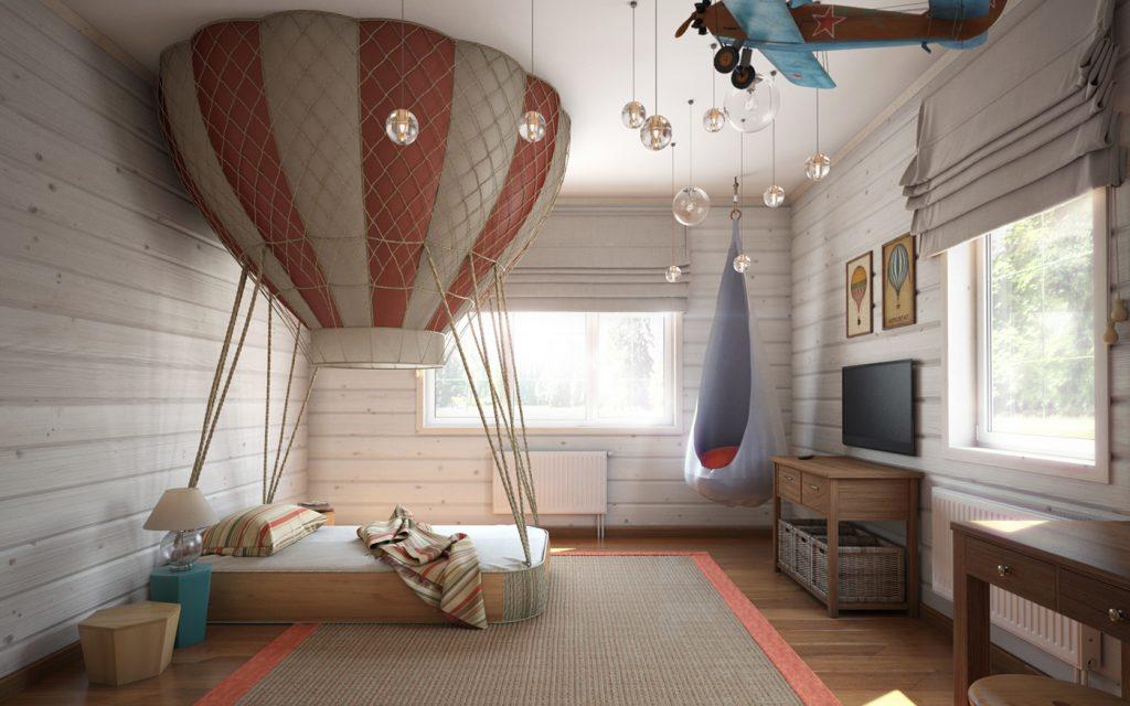 posteľ tvare balóna