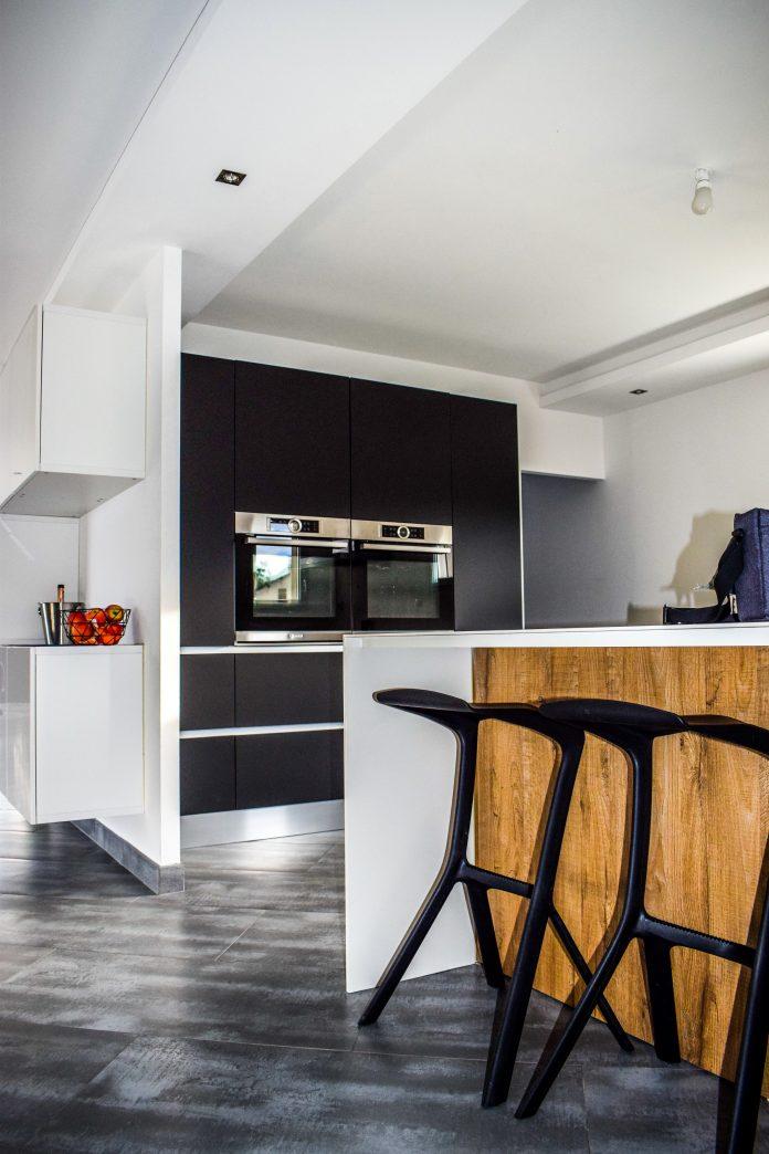 dizajnová kuchyňa v priestrannom byte