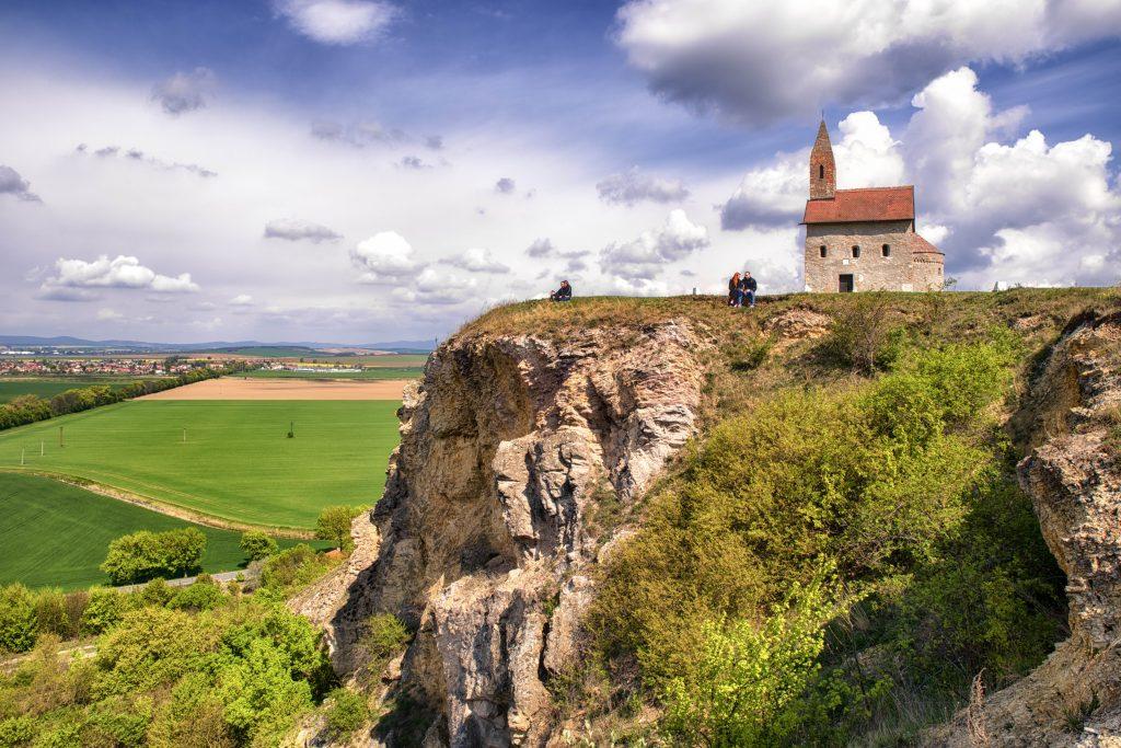 príroda a okolie mesta Nitra, výhľad na mesto Nitra z výšky