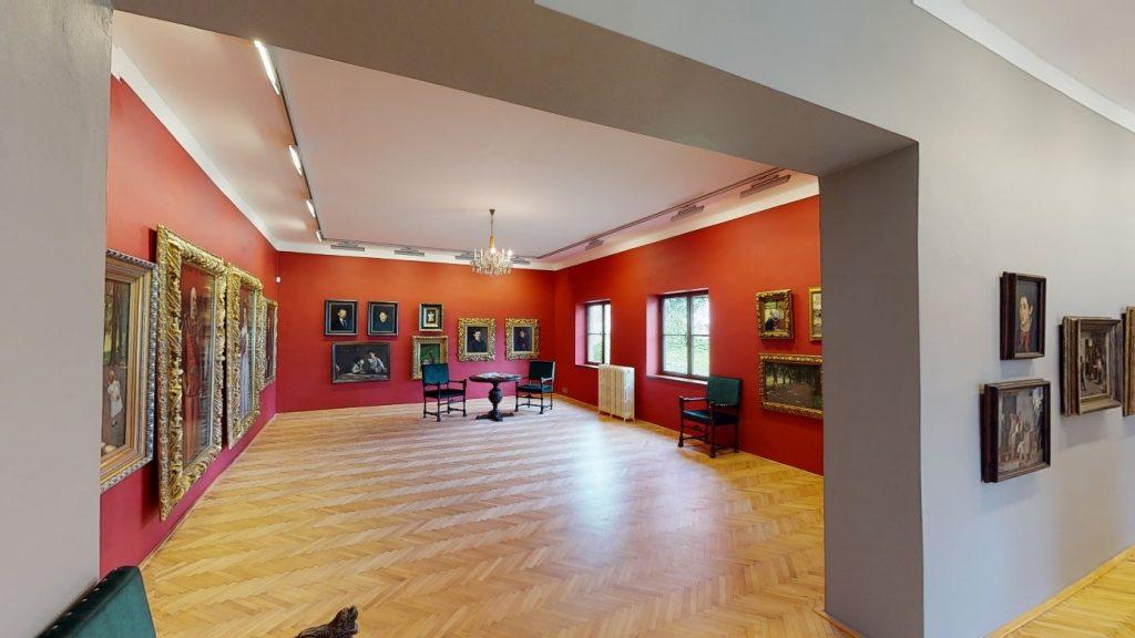 zrekonštruoaný interiér vily Dominika Skuteckého a skenovanie službou Mattterport