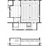 pôdorys multifunkčnej sály s detailmi