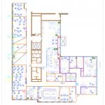 Nákres administratívneho priestoru modernej firmy Techo