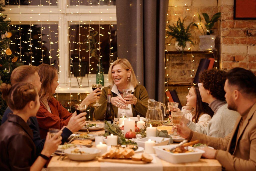 celá rodina počas vianočných sviatkov