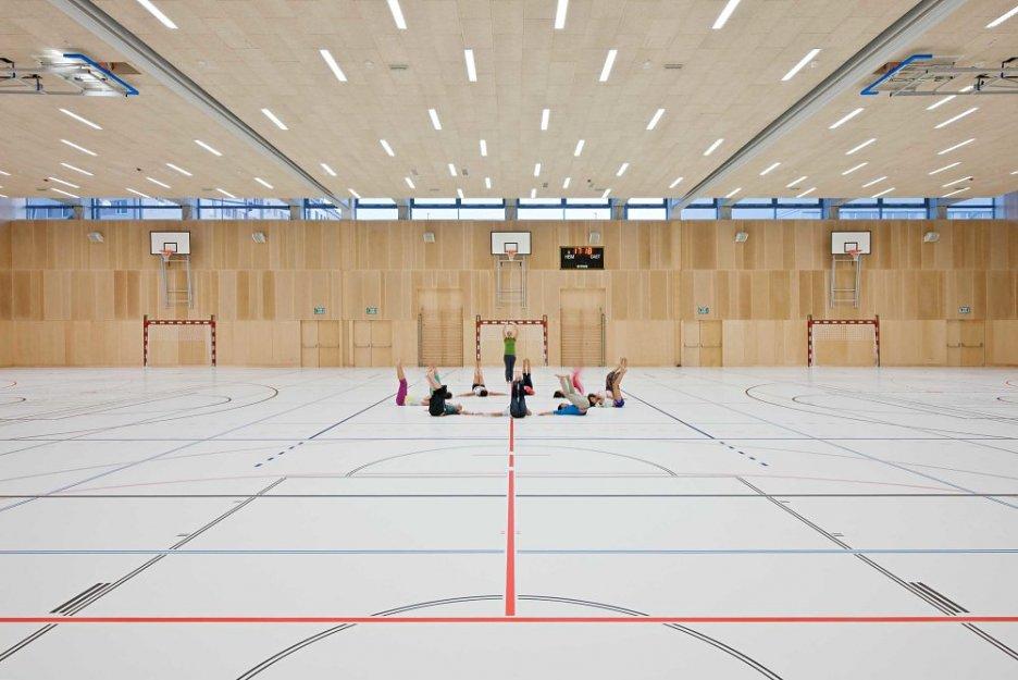 telocvičňa pre žiakov modernej školy