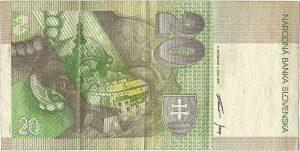 20 korunová slovenská bankovka