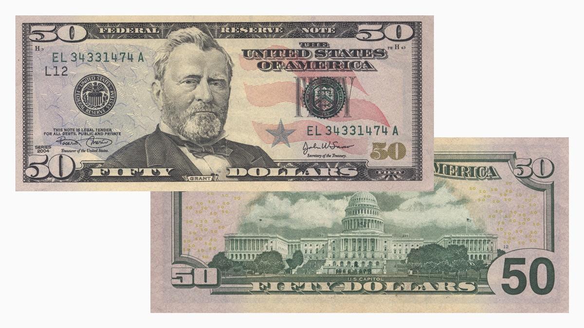 50 dolárová bankovka