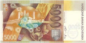 slovenská bankovka v hodnote 5000 korún