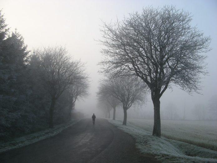 muž kráčajúci po ceste