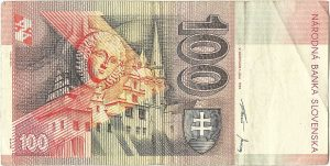 sto korunová slovenská bankovka