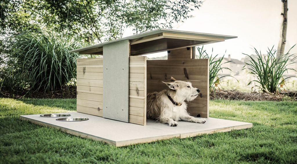 miniatúry domčekov v minimalistickom štýle pre psov