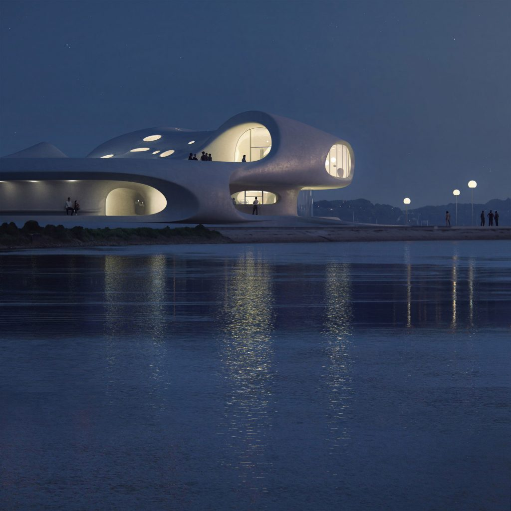 Wormhole Library overlooking the South China Sea