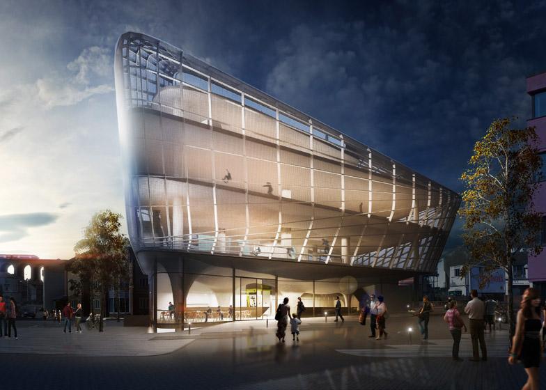Guy Hollaway plans multi-storey skatepark for Folkestone