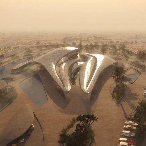 Zaha Hadid reveals animation of Bee'ah desert headquarters