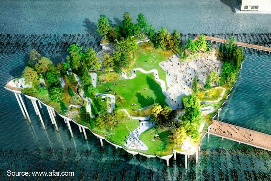 architektonické dielo - ostrov