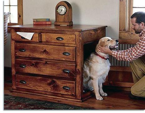 búda pre psa ako súčasť nábytku