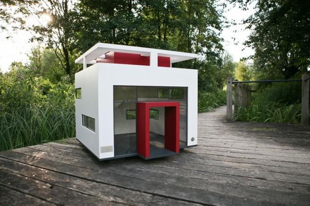minimalistický domček pre psa