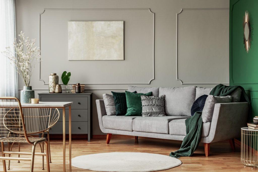 moderná a krásne obývačka s kvalitným nábytkom