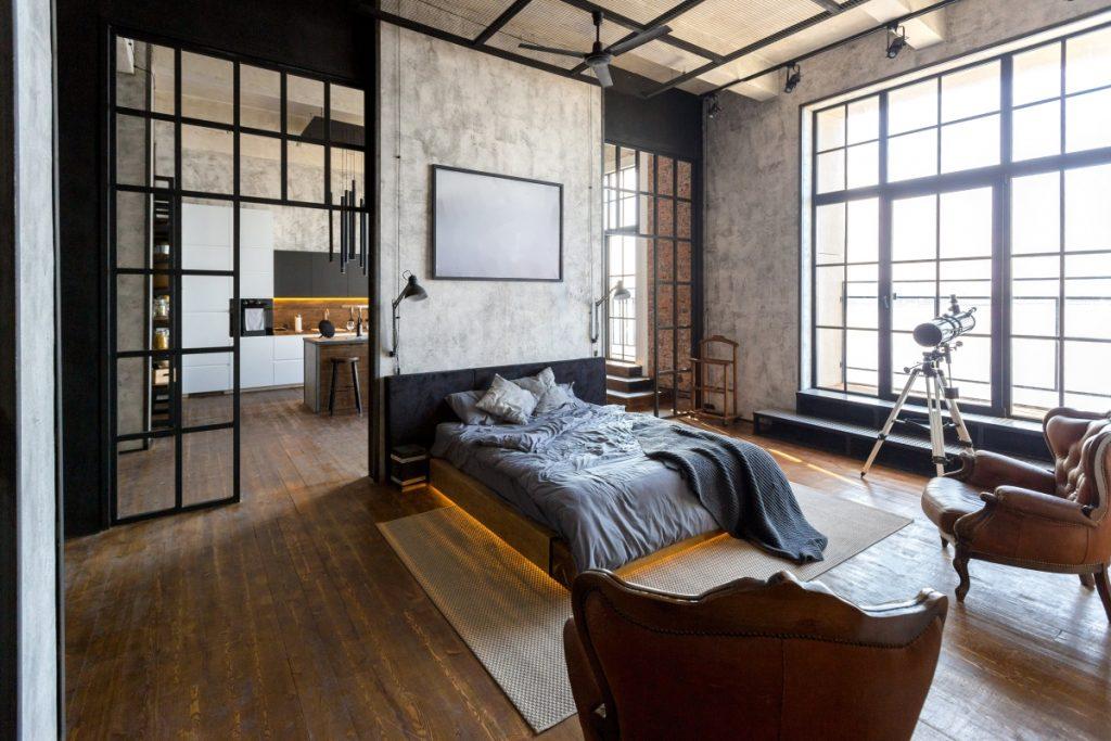 industriálne zariadený byt v lukratívnej štvrti