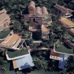 Súčasná verzia projektu Roatán Próspera Residences od Zaha Hadid Architects