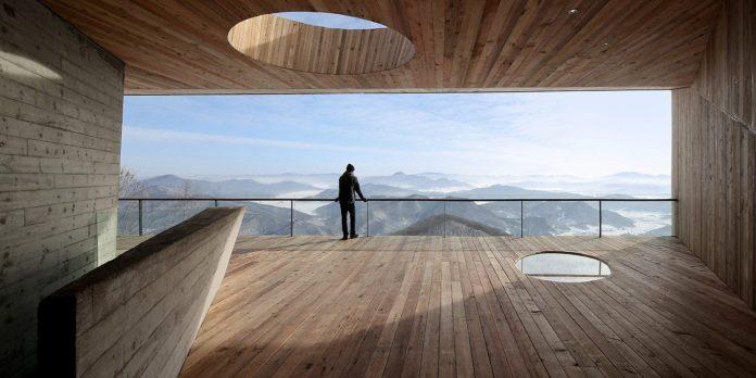 Architektonický skvost pri čínskom jazere Songhua