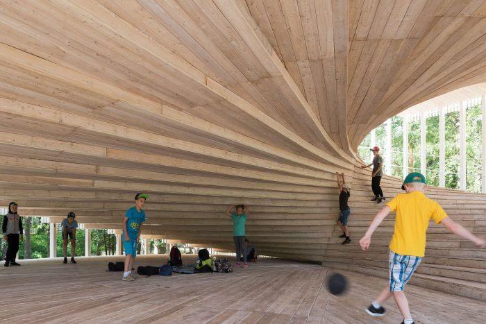 , multifunkčné, otvorené a priateľské, ekologické a cenovo dostupné riešenie - Pavilón budúcnosti