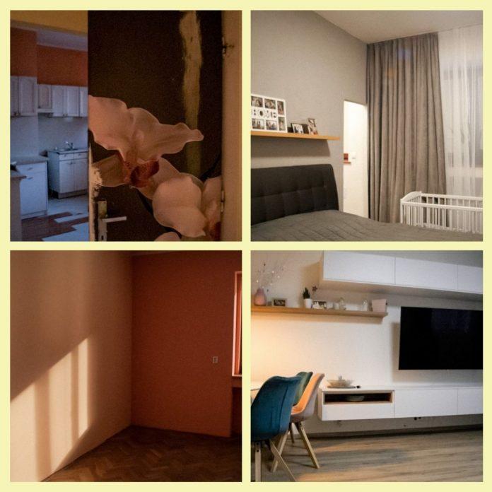 fotografie pred a po prerábke bytu