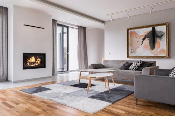 moderný a štýlový interiérový dizajn obývačky