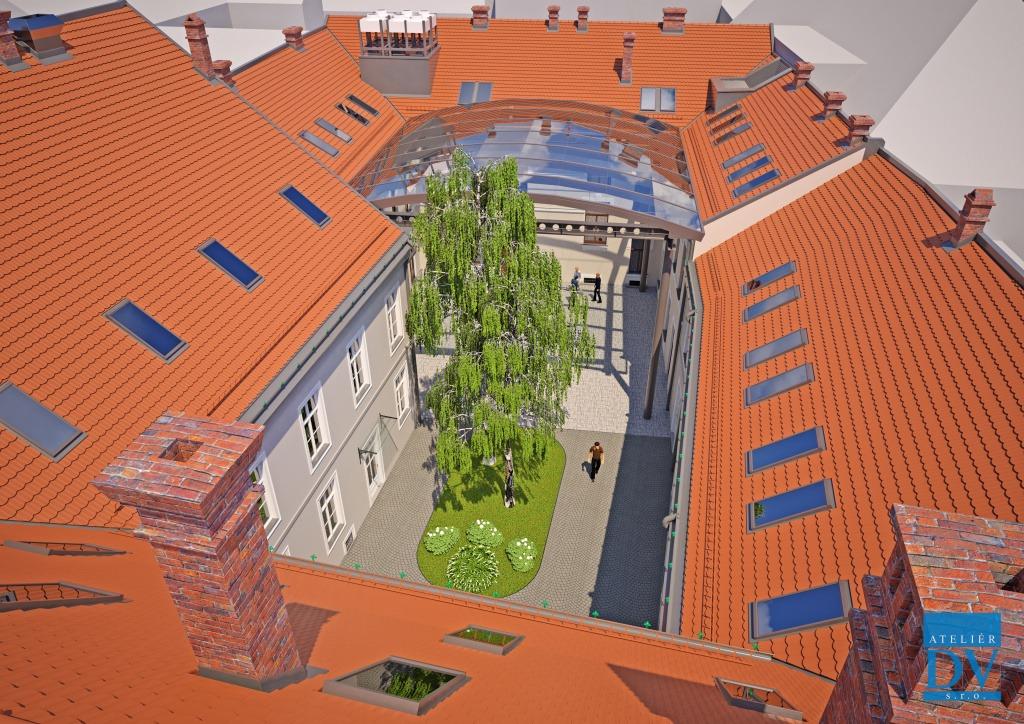 Vizualizácia kultúrno-kreatívneho centra v Trnave