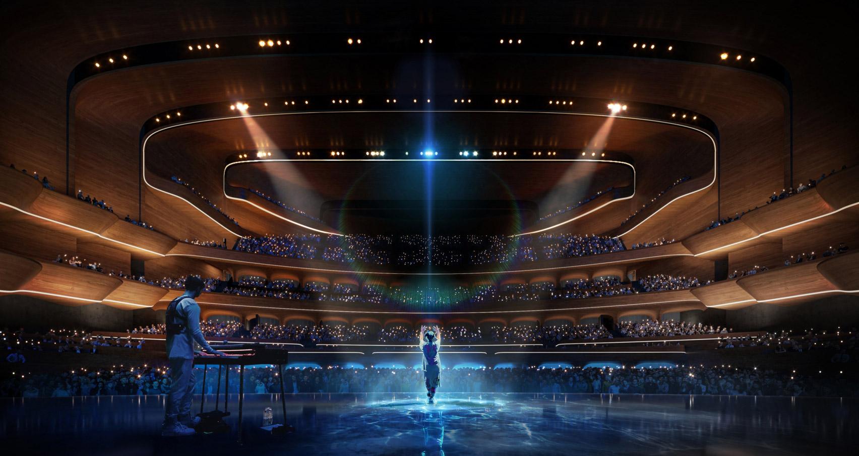 Žena na pódiu