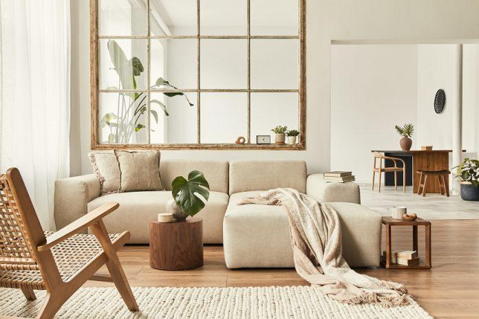 Obývačka v neutrálnych farbách