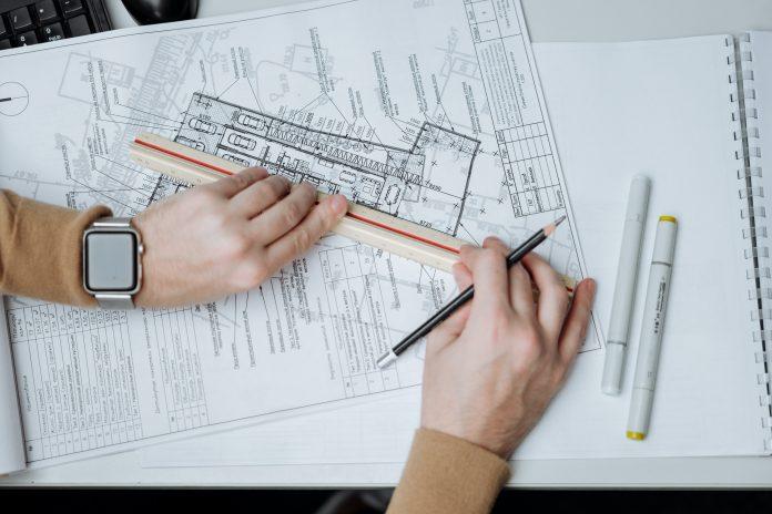Papiere pravítko Architekt